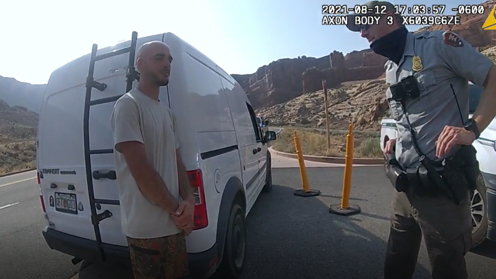 The Moab Police Department released the body camera footage of the incident involving Gabby Petito and her fiancé Brian Laundrie on Sept. 16, 2021. (Photo: Moab Police Department)