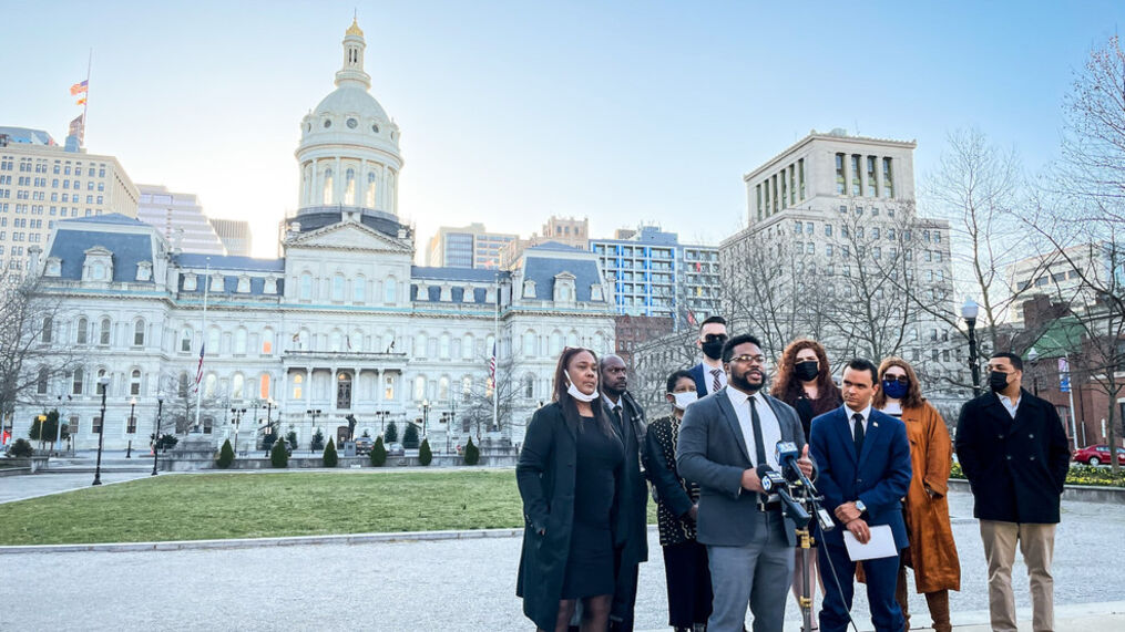 Jovani Patterson, along with other activists, called for the resignation of both Nick and Marilyn Mosby following the federal investigation into their taxes and campaign contributions..jpg