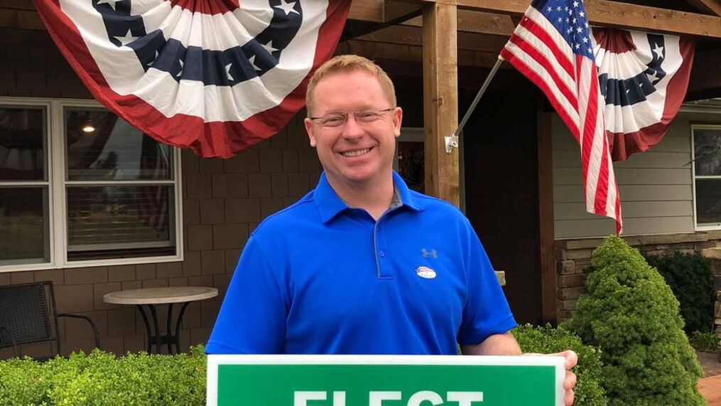 Blackwell Mayor, T.J. Greenfield, seen in a photo from his campaign Facebook Page. (TJ Greenfield - Mayor of Blackwell, OK)