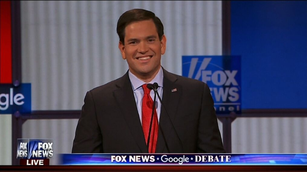 Marco Rubio at the Fox News Republican debate on January 28, 2016. (Photo: Fox News)