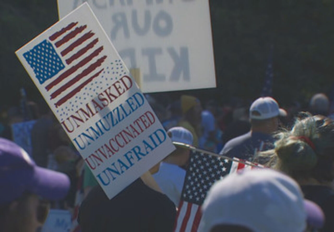 Thousands gather in Olympia to protest Washington's vaccine, mask mandate