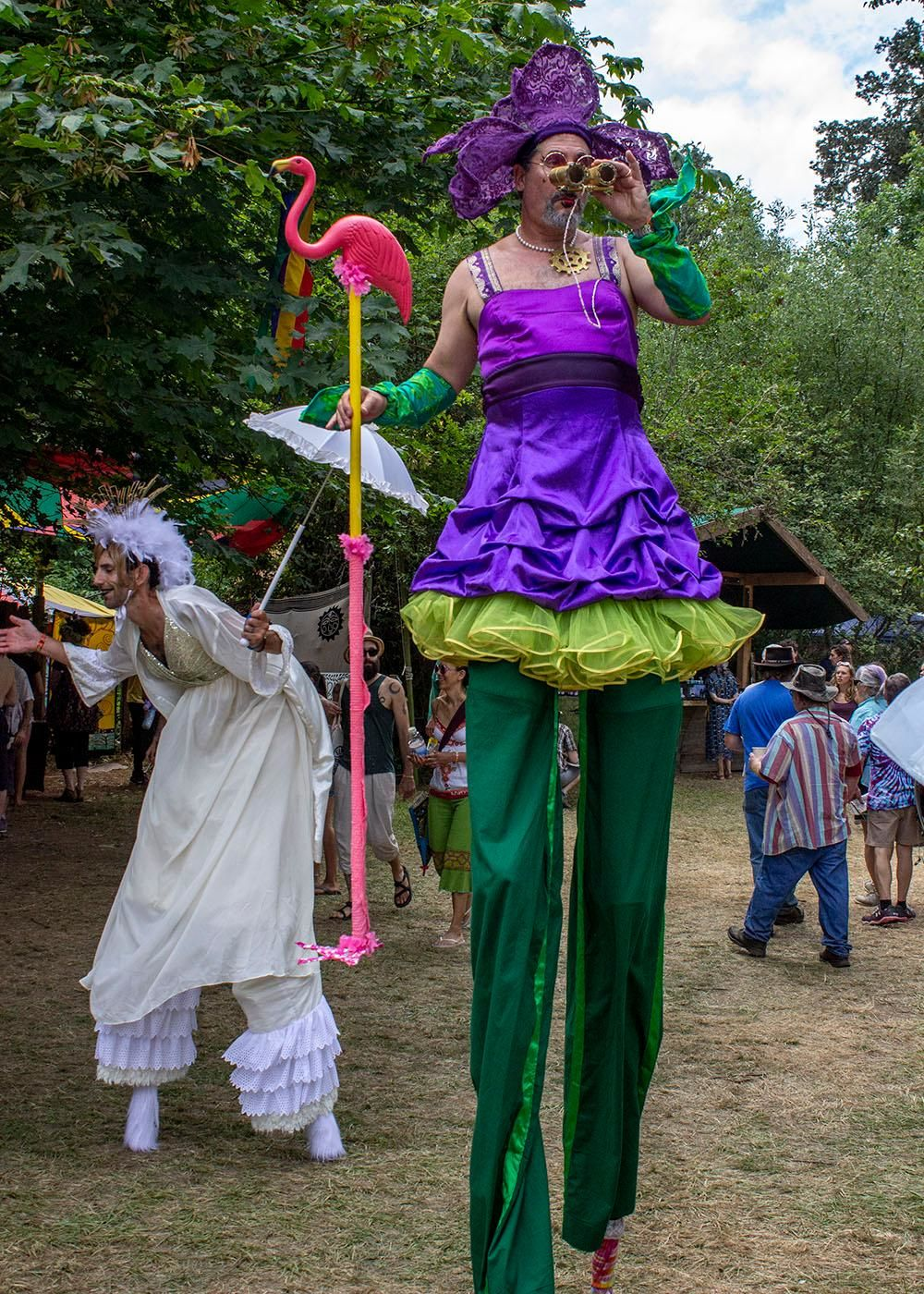 The Oregon Country Fair kicked off its 50th anniversary Friday, July 12, 2019 with massive crowds. Organizers say more than 20,000 people purchased tickets the first day. Saturday is expected to be even busier. The fair is held every year in Veneta, Ore. and features music, performers, artists, and plenty of food options. Photo by Amanda Butt