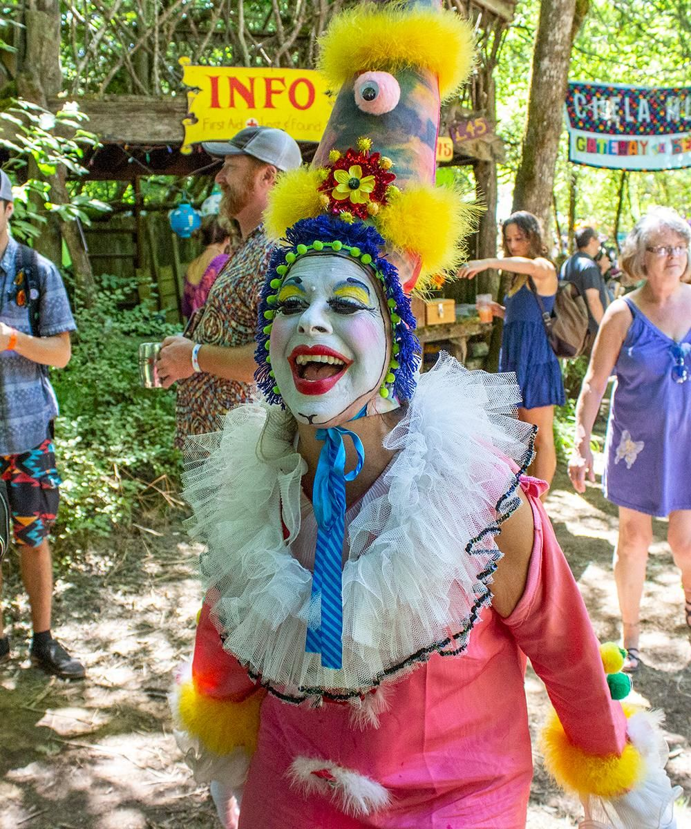 "People flocked to the 49th annual Oregon Country Fair in Veneta dressed as animals, mermaids, fairies and more. The gathering features music, performances, craft vendors and a variety of food. Thousands of people attend every year to enjoy the atmosphere, performances and, as many say, ""the people watching."" Photo taken on July 14, 2018 by Amanda Butt"