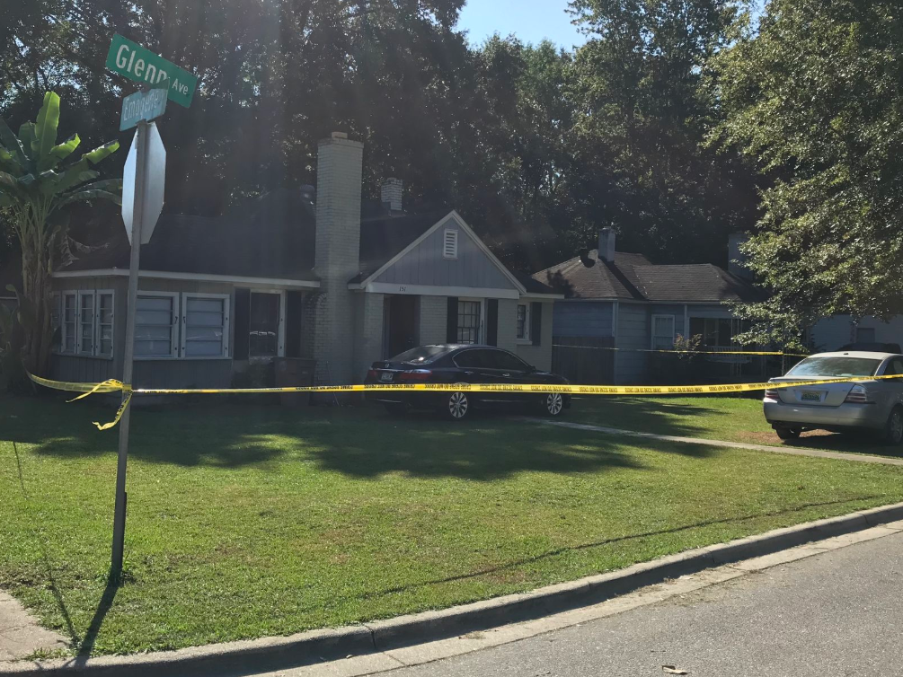 (WPMI - Photo from Glenn Ave. death investigation taken on September 29, 2019) Mobile Police: Wife of victim arrested, charged in Glenn Avenue death investigation