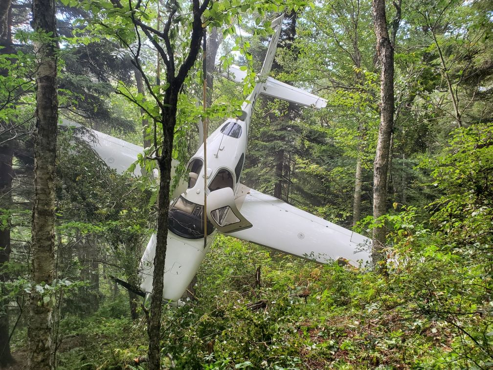 Happening Friday, a plane that crashed on the side of Mount Mitchell will be removed. (Photo credit:{ }Yancey County EMS)