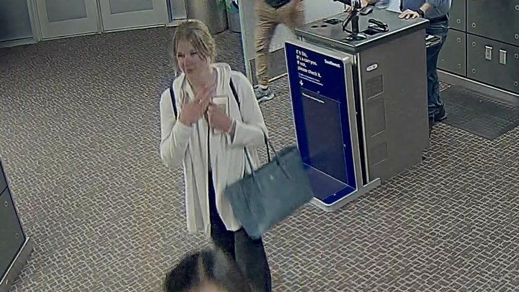 On the ninth day of MacKenzie Lueck's disappearance, police released photos from footage of her at the Salt Lake Airport. (Photo: SLCPD)