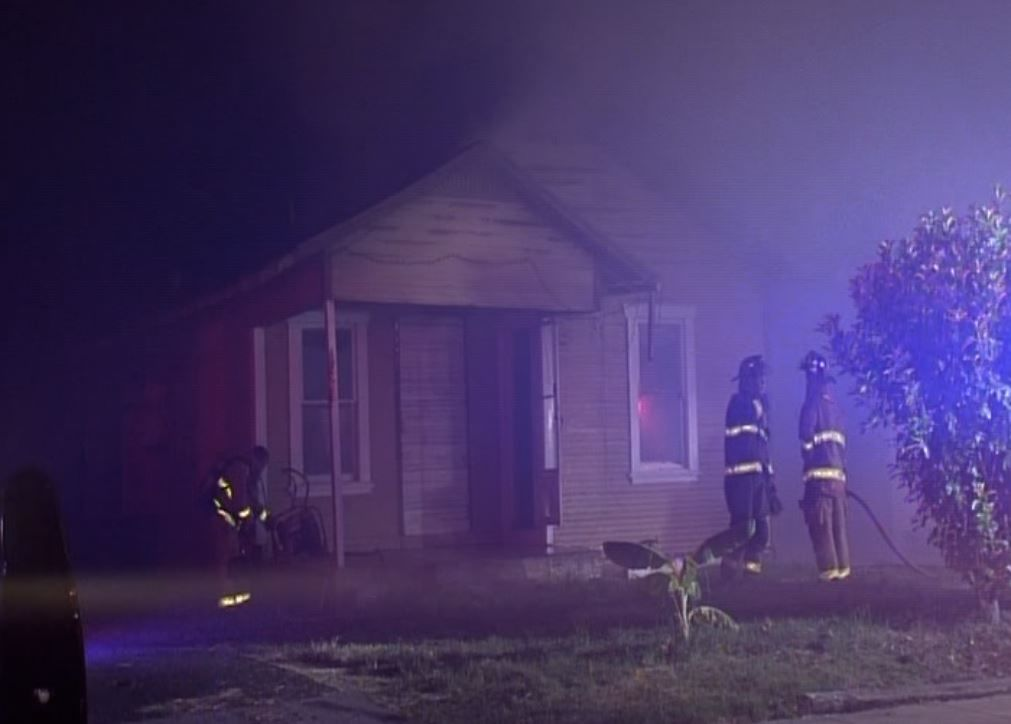 A dumpster fire spread to two homes on the city's Southwest Side. (SBG San Antonio)
