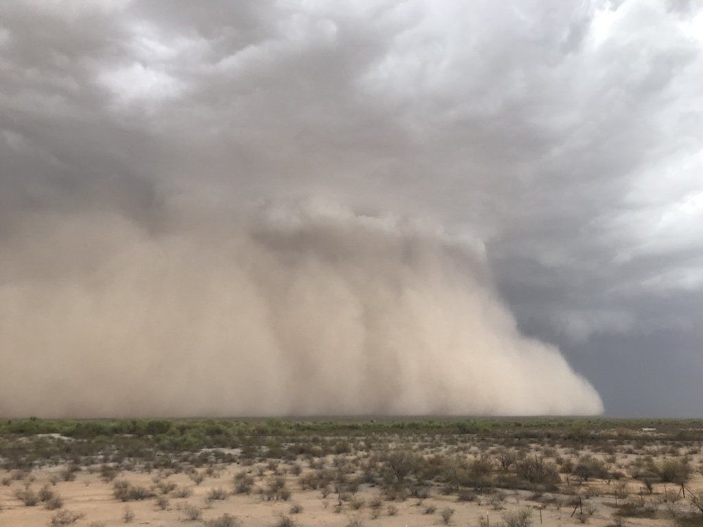 A intense haboob/dust storm hits parts of Arizona on July 9, 2018 (Photo: Mike Olbinski)