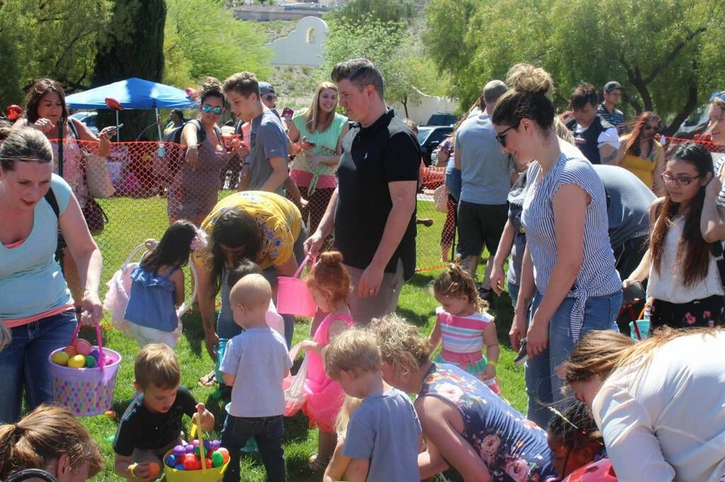 Children entered into the egg hunts will have the chance to find eggs filled with prizes and candy as well as a golden egg in each age bracket with a cash prize. (Courtesy St. Jude's Ranch for Children)