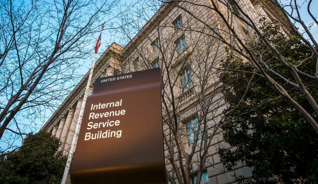 FILE - This April 13, 2014, file photo, shows the Internal Revenue Service headquarters building in Washington. (AP Photo/J. David Ake, File)