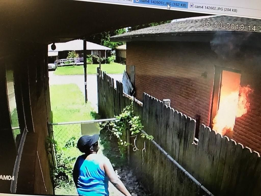 Del City woman throws fire bomb, shoots into neighbor's home according to Del City Fire (Courtesy: Del City Fire Department)
