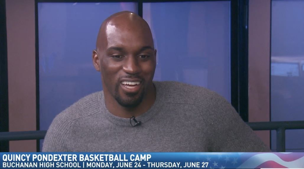 Quincy Pondexter on Great Day talking about his basketball camp