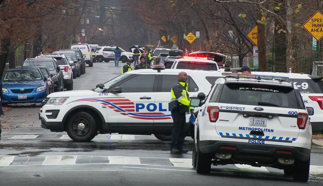 Metropolitan Police are responding to the a barricade situation after a suspect injured two security guards at the Basilica of the National Shrine of the Immaculate Conception.  Tuesday, Dec. 10, 2019. (ABC7 photo){&nbsp;}{&nbsp;}<p></p>
