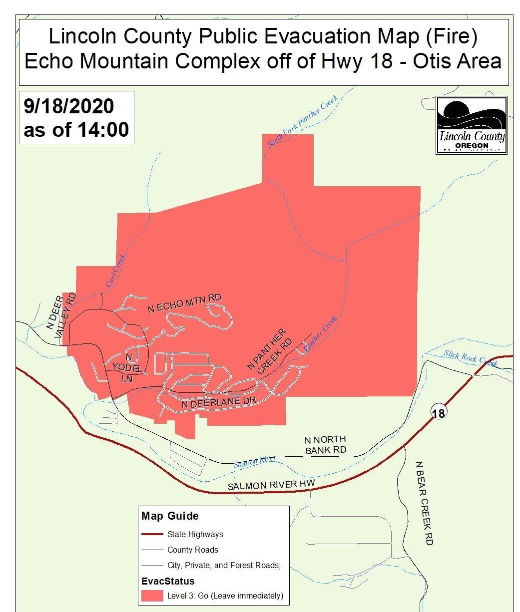 All Level 2 Evacuation Levels Removed Near Echo Mountain