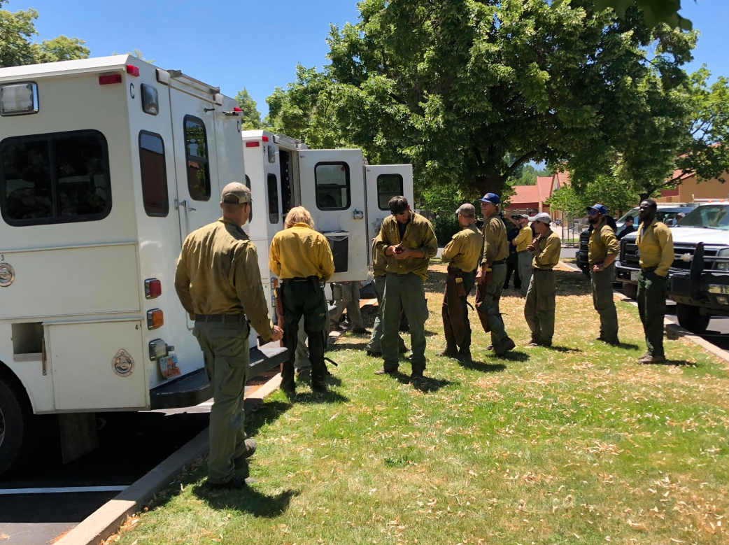 Firefighters worked all day Tuesday in Utah County and gained some containment on a wildfire burning in the hills above Springville. (Photo: RaeAnn Christensen / KUTV)