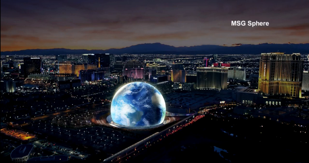 MSG representatives expect the MSG Sphere at the Venetian to be completed sometime in 2021. (Antonio Castelan | KSNV)<p></p>