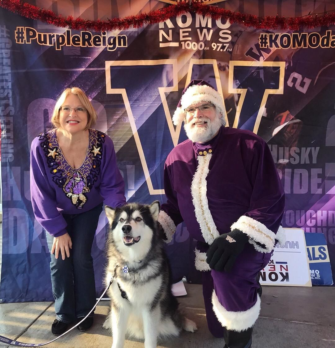 The University of Washington's real Husky mascot, Dubs, will retire after the 2018 football season, according to a message posted to it's Twitter account on Monday. (Photo: KOMO NewsRadio)