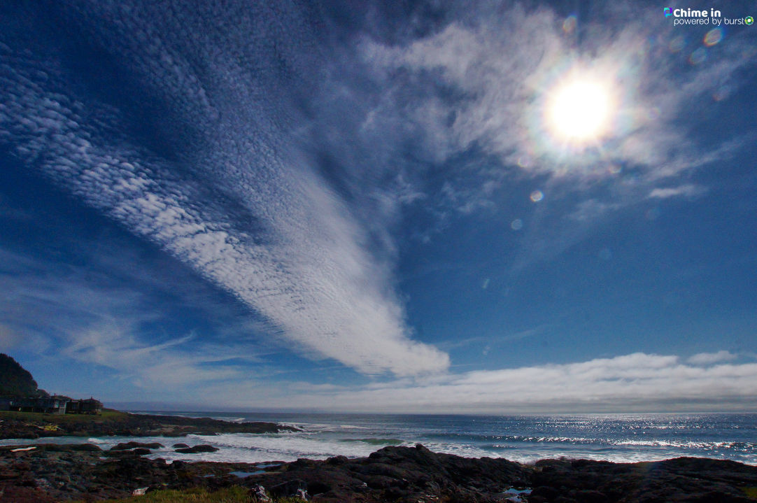 Debbie Tegtmeier shared photos of the view from Ocean Road in Yachats, Oregon, via the CHIME IN tab on our website. We would love to see your best shots of the Oregon Coast, too!