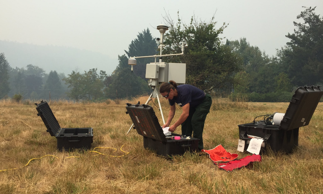 An Air Resource Advisor was ordered for the Milepost 97 Fire. Wendy Wagner, working on behalf of the Bureau of Land Management, has been monitor air quality levels and smoke patterns. (Brian Schnee/News 10)
