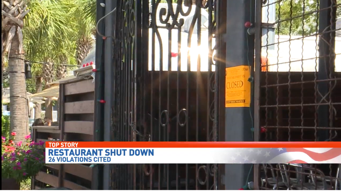 Downtown Pensacola restaurant shut down over roaches, food temperatures, drainage problems. (WEAR-TV)