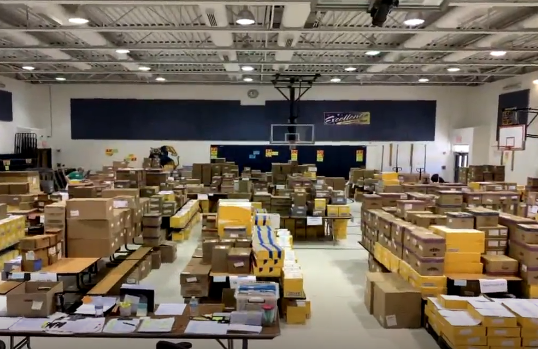 Retired teacher's organization donates school supplies to kids in Loudoun and Fairfax Counties, and Alexandria.  Thursday, Aug. 22, 2019. (ABC7 photo){&nbsp;}<p></p>