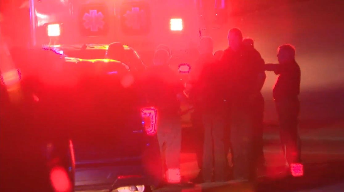 Our crew saw at least one ambulance on the scene after a shooting in Soddy-Daisy involving an officer Thursday night. (Image: WTVC)