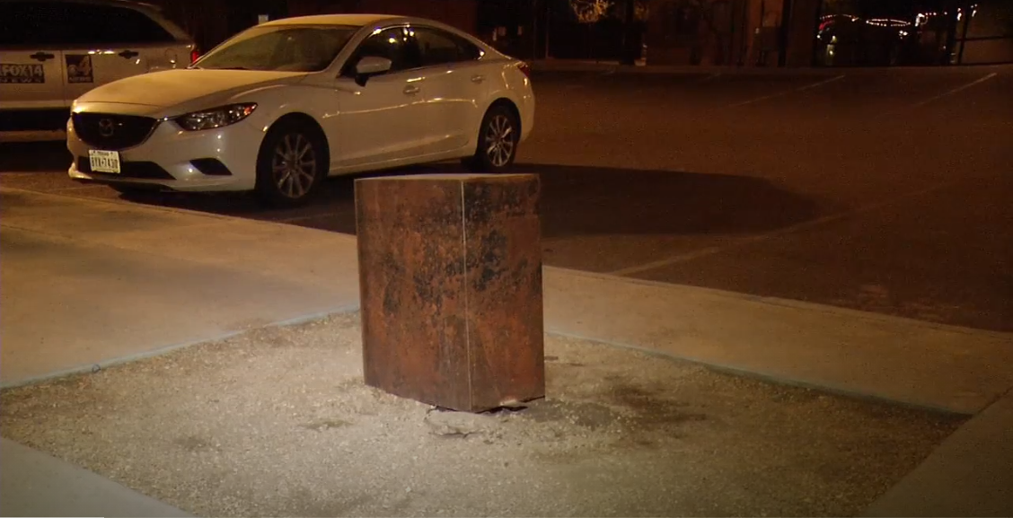 Monolith removed in west El Paso.{ }(courtesy: KFOX14/CBS4)