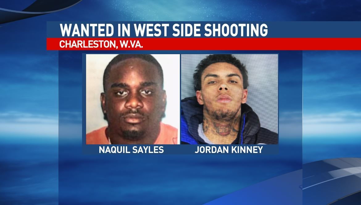 Naquil Kinney and Jordan Kinney  are wanted for being a felon in possession of a firearm, malicious wounding and wanton endangerment. (Charleston Police Department)