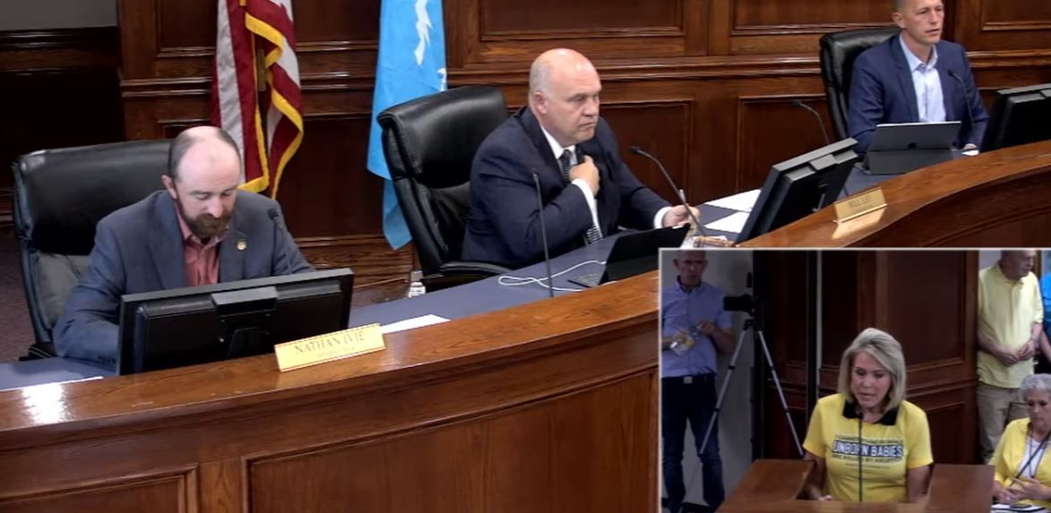 "The Utah County Commission voted unanimously and passed a ""Resolution Declaring Utah County's Support for Protecting All Human Life,"" on Tuesday. (Photo: YouTube / screengrab)"