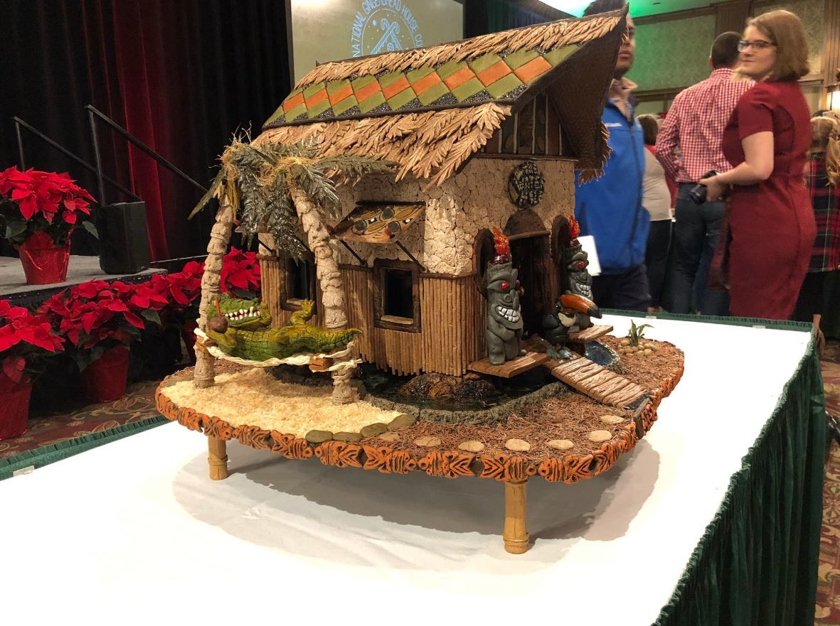 "Grand Prize Winner, Gail Oliver of Johnson City, took home the top prize at this year's National Gingerbread House Competition for ""The Water Hole."" (Photo credit: WLOS Staff)"