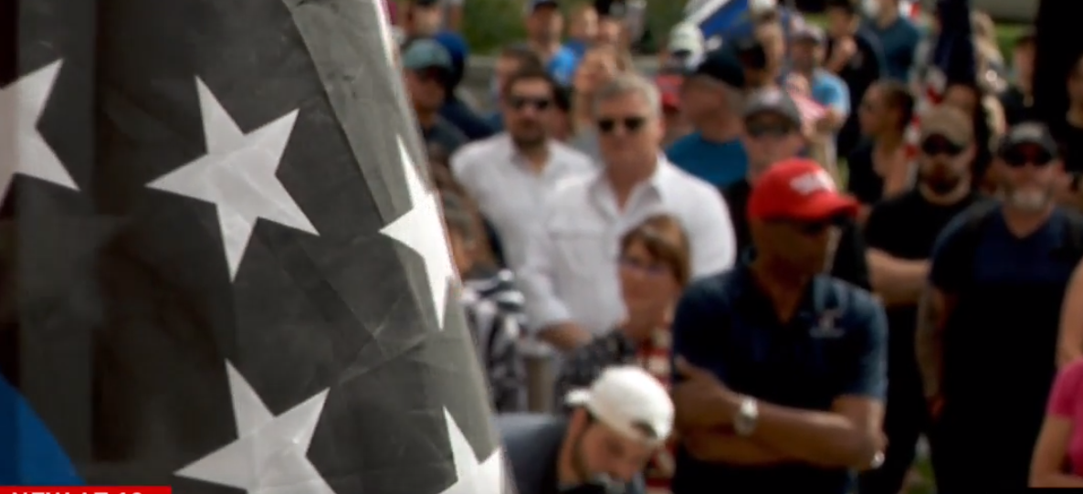 Downtown rallies in support of law enforcement and in support of police reform. (Photo: KUTV)