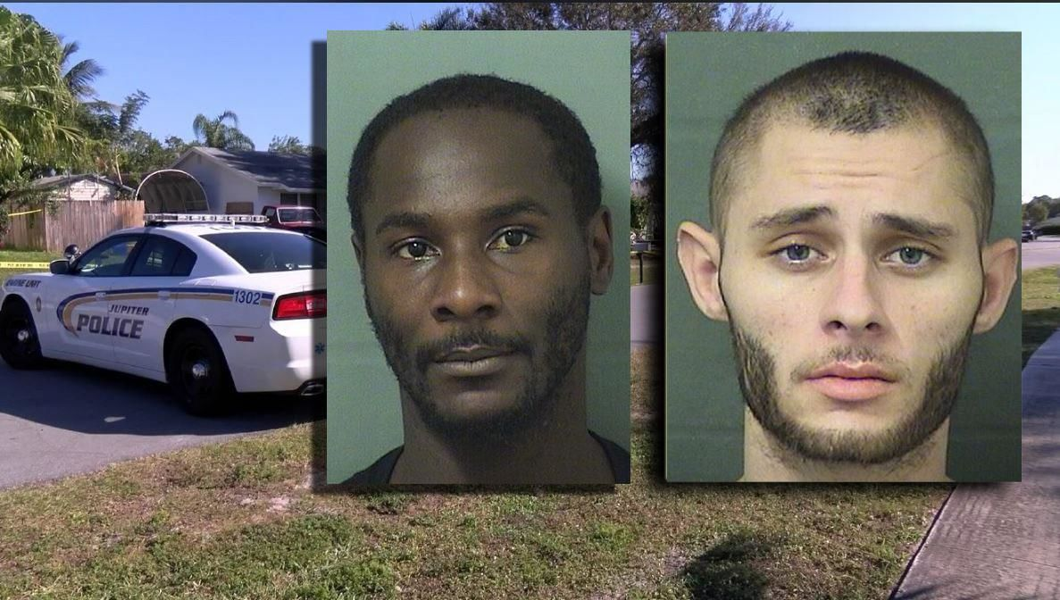 Marcus Steward and Christopher Vasata are two suspects in the triple murder on Super Bowl Sunday in Jupiter. (PBSO | WPEC)<p></p>