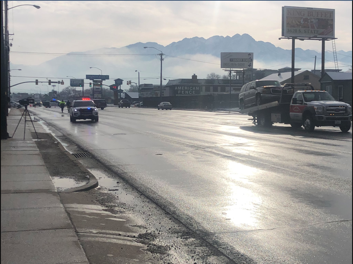 A man died in a fatal auto-pedestrian accident early Saturday morning in South Salt Lake after being struck by two vehicles.{ }(Photo: KUTV)