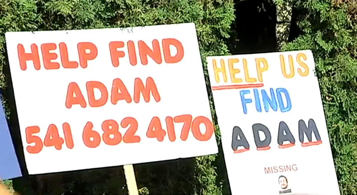 Friends & family march in Springfield on Oct. 5, 2019, to remember Adam Johns, who went missing 5 years ago. (SBG)