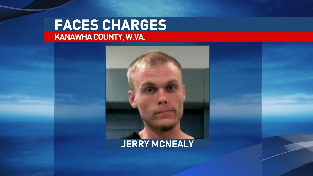 South Charleston police say the driver, Jerry McNealy, was arrested on charges of fleeing and third-offense driving revoked for DUI and a capias for failure to appear on a previous domestic battery charge. (West Virginia Regional Jail)