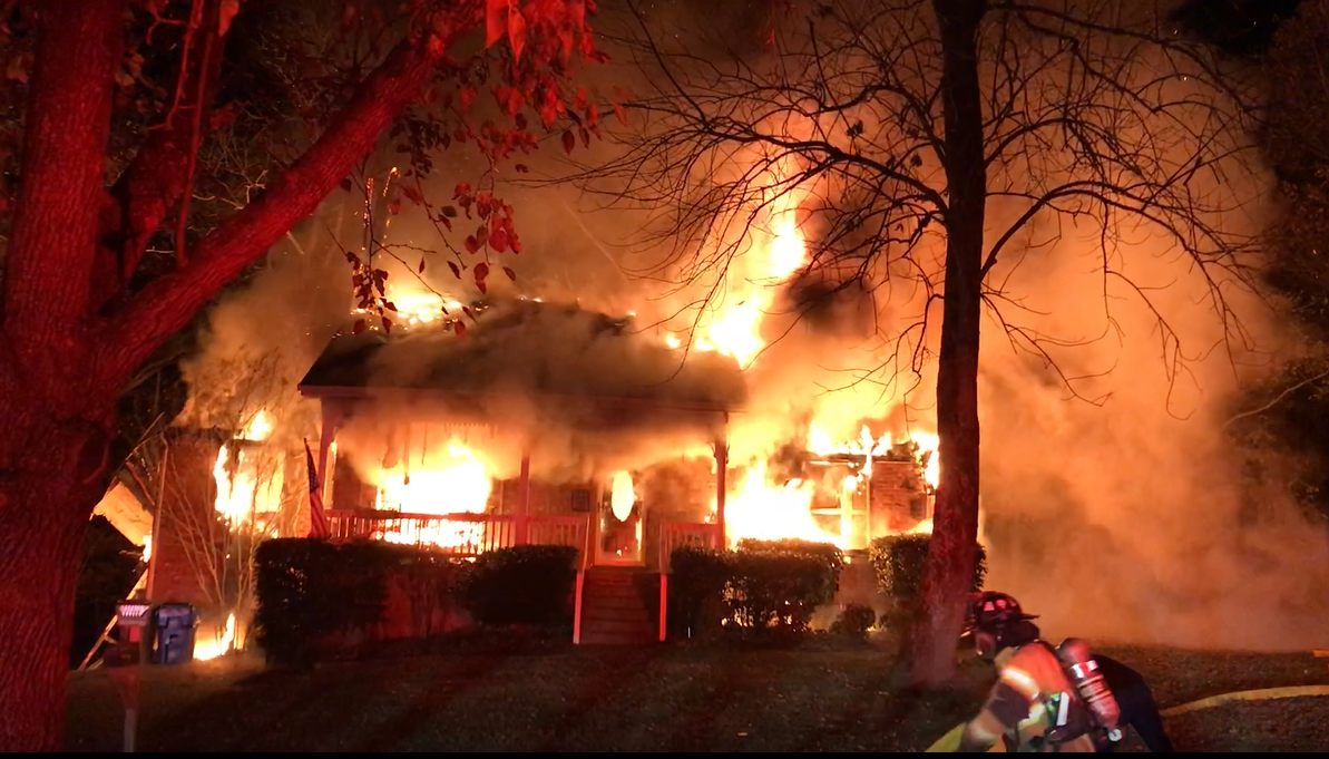 (Submitted video) Goodlettsville home completely destroyed after early morning house fire.