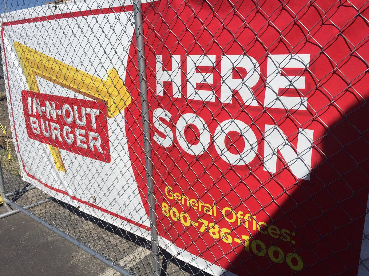 In-N-Out under construction at Keizer Station - Photo from KATU's Keaton Thomas