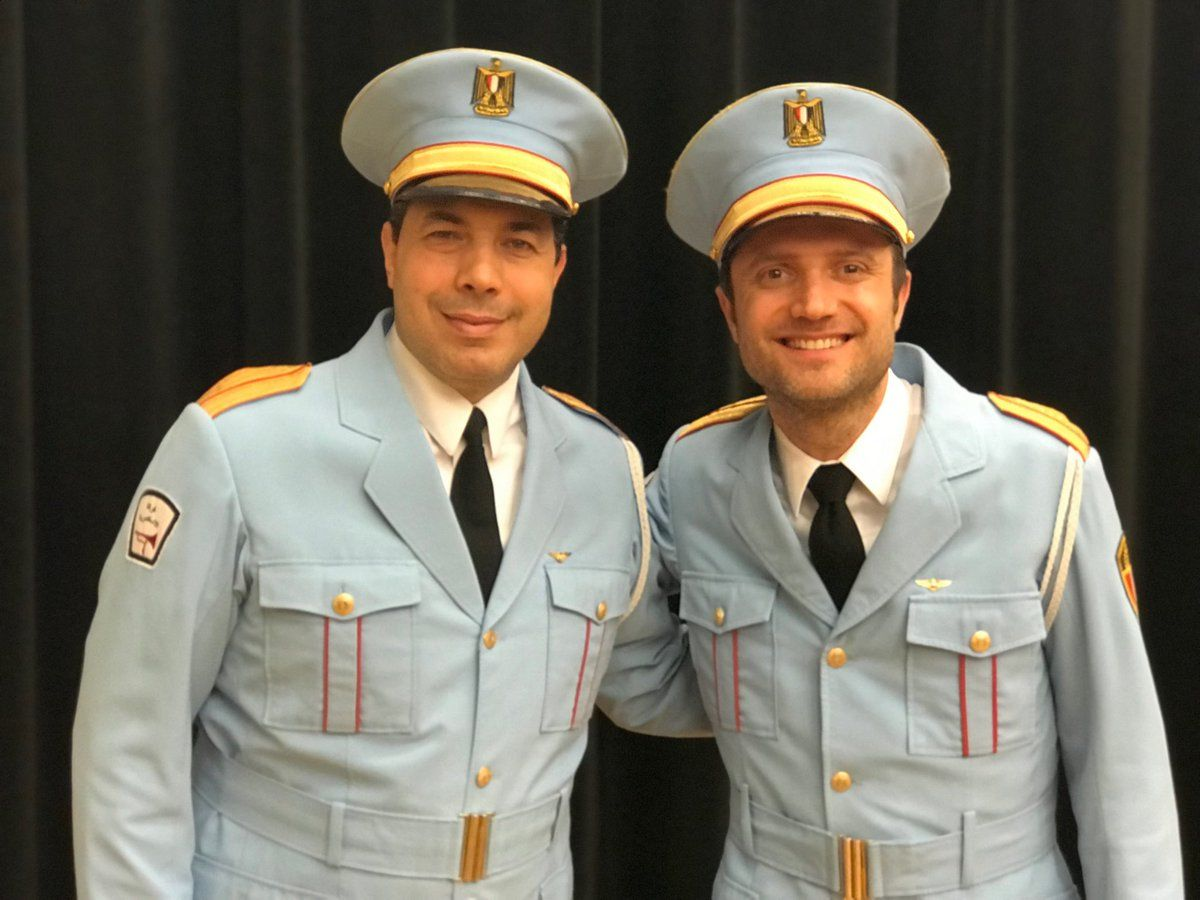 Ossama Farouk (l) and Sam Sadigursky (r) of The Band's Visit
