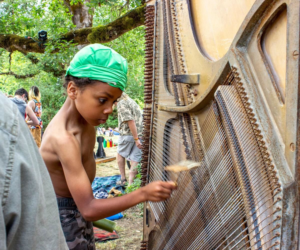 The 50th Oregon Country Fair outside Veneta attracted 58,474 people over the weekend. Daily paid attendance reached 20,047 on Friday, 21,620 on Saturday and 16,807 on Sunday. Photo by Amanda ButtDID YOU GO? Share Summer Selfies of yourself at Fair via Chime In tab on our website.{ }