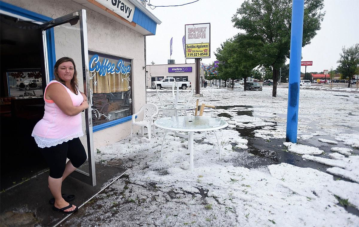 what the hail  colorado town buried in foot of ice pellets