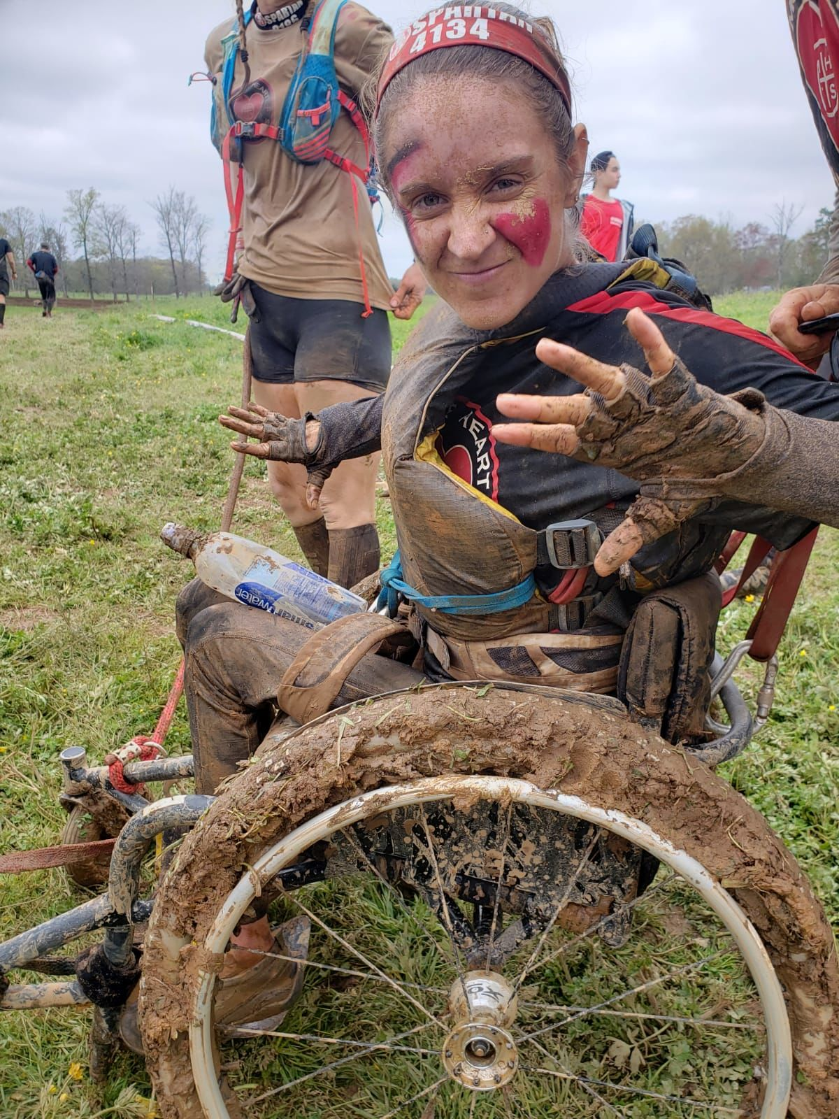 """This was part of my purpose,"" former Miss Wheelchair America competes in Mud Run.{ } Photo: Erika Bogan"