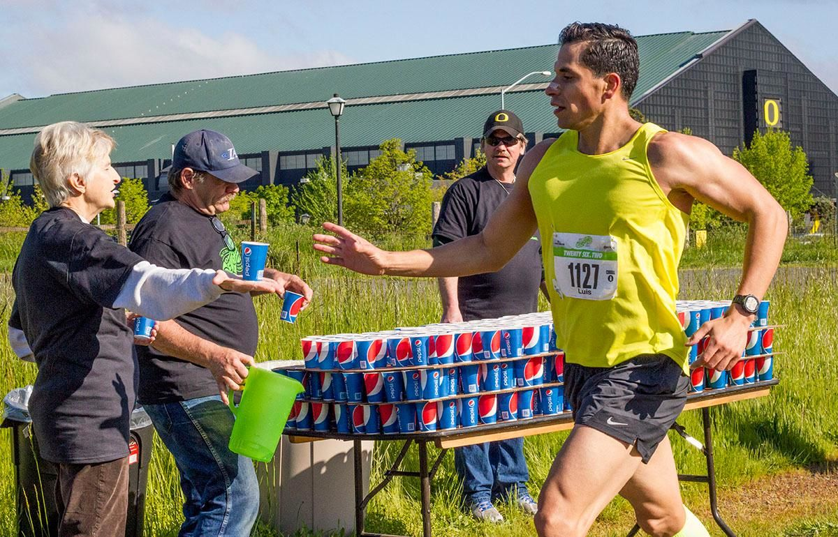 The 11th Annual Eugene Marathon was won by Steve DeKoker with a time of 02:29:46 in the overall division and by Hiruni Wijayaratne in the women's division with a time of 02:43:31. The Half Marathon was won by Eric Finan with a time of 01:06:11 and the first woman to finish the Half was Ashley Nichols with a time of 01:20:19. Rounding out the top five in the Full Marathon was Raul Arcos 02:30:40; Shaun Frandsen 02:31:50, Bashar Ibrahim 02:33:52, and Stephen Harris 02:34:45. In the women's division Hiruni Wijayaratne was followed by Yelena Nanaziashvili 02:44:11, Marisa Ryan 02:46:50, Heather Banks 02:49:47, and Karin Wimer 02:51:39. The Half Marathon top five included Yon Yilma 01:07:49, Erik Teig 01:07:52, Craig Hopkins 01:09:09, and Rio Reina 01:09:11.Photo by Stephanie Cusano