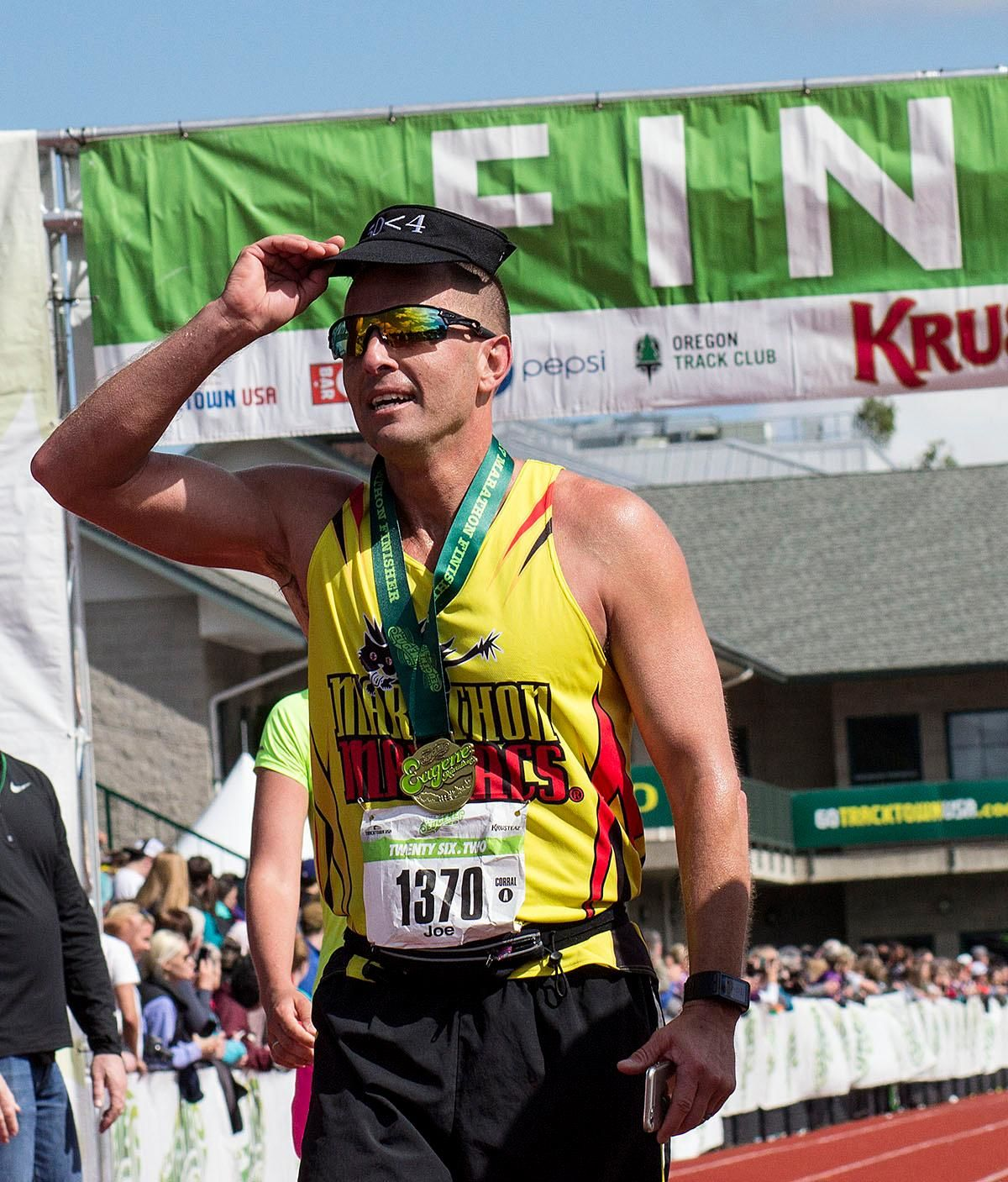 The 11th Annual Eugene Marathon was won by Steve DeKoker with a time of 02:29:46 in the overall division and by Hiruni Wijayaratne in the women's division with a time of 02:43:31. The Half Marathon was won by Eric Finan with a time of 01:06:11 and the first woman to finish the Half was Ashley Nichols with a time of 01:20:19. Rounding out the top five in the Full Marathon was Raul Arcos 02:30:40; Shaun Frandsen 02:31:50, Bashar Ibrahim 02:33:52, and Stephen Harris 02:34:45. In the women's division Hiruni Wijayaratne was followed by Yelena Nanaziashvili 02:44:11, Marisa Ryan 02:46:50, Heather Banks 02:49:47, and Karin Wimer 02:51:39. The Half Marathon top five included Yon Yilma 01:07:49, Erik Teig 01:07:52, Craig Hopkins 01:09:09, and Rio Reina 01:09:11. Photo by Aaron Alter, Oregon News Lab
