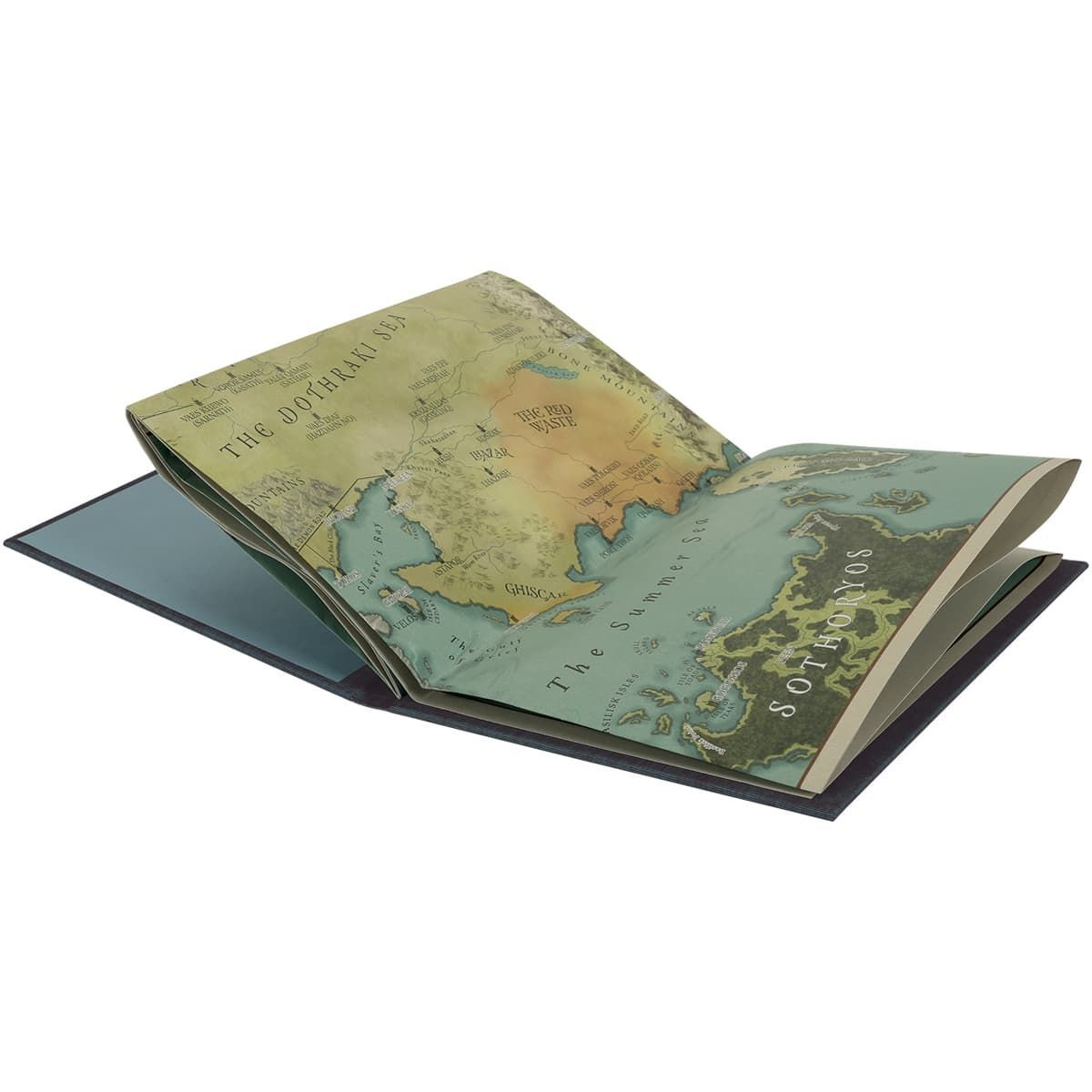<p>Also included in this spectacular set is a colour map of The Known World, printed as a separate volume which folds out to reveal the full splendour of George R. R. Martin's remarkable creation. (Photo: Folio Society){&nbsp;}</p>