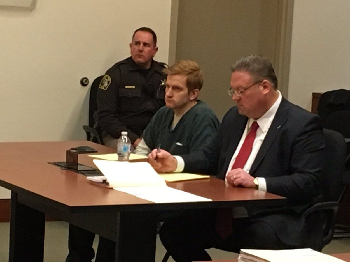 FILE - Jared Chance appears at a preliminary hearing in Kent County Circuit Court. Chance is being tried on murder charges in the death of Ashley Young of Kalamazoo. (WWMT/File)