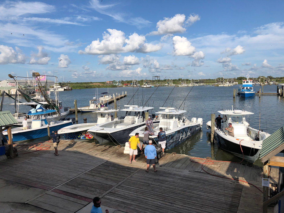 <p>The afternoon view from the restaurant deck at Venice Marina. It is a real treat watching the guide boats come in with their catch while you're eating some of the finest blackened redfish I've ever put in my mouth. (Photo: Richard Simms)</p>