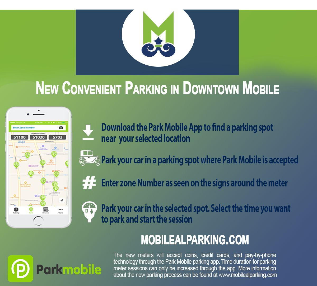 (IMG: City of Mobile) Parking in Downtown Mobile
