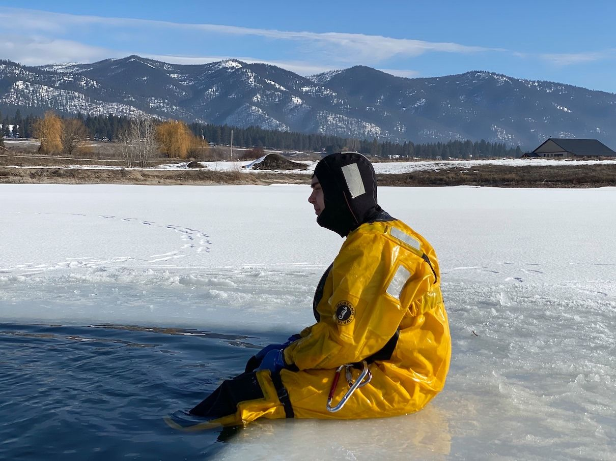 Frenchtown Rural Fire completes ice training. Photo: Frenchtown Rural Fire<p></p>