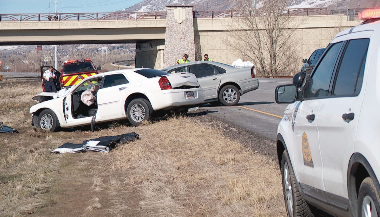 In February 2018, an elderly man entered onto Legacy Parkway at Park Lane going the wrong direction. The man's Volvo collided with a Chrysler, killing himself and the other driver. (FILE photo: Kurt Smith / KUTV)