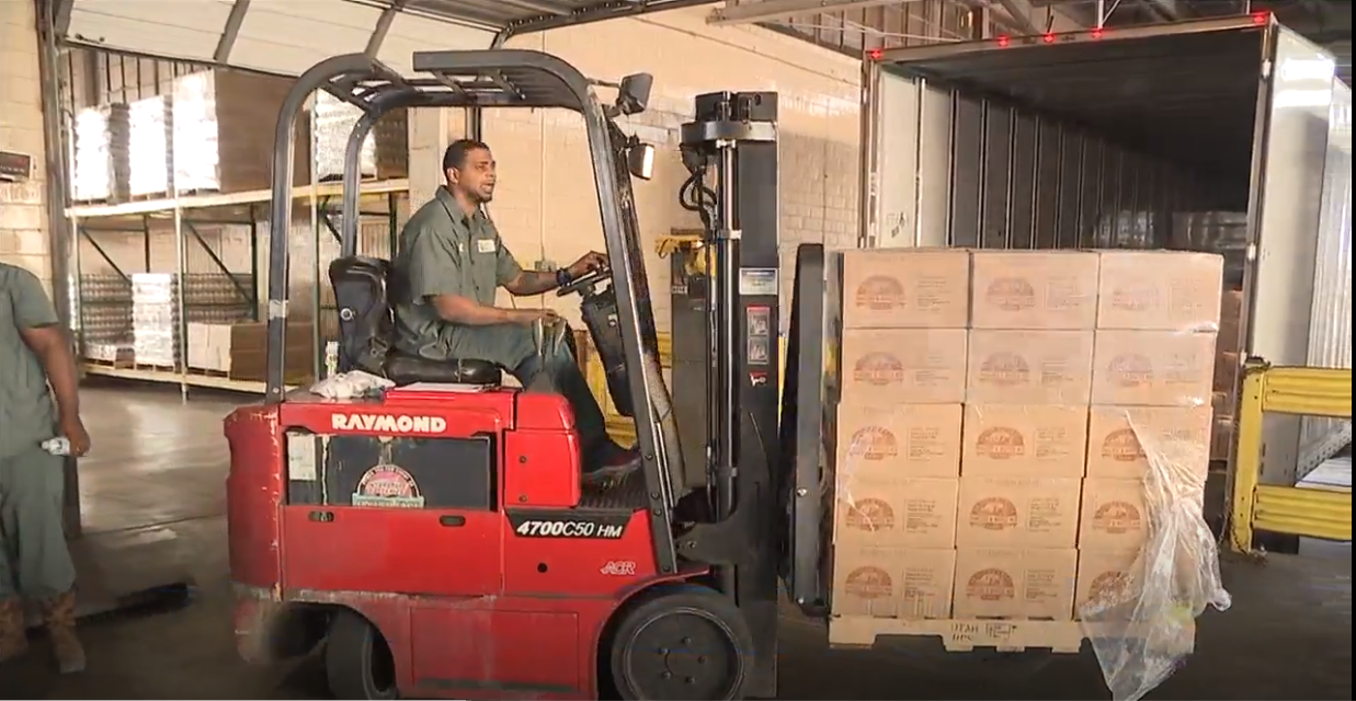 The Church of Jesus Christ of Latter-Day Saints donates 42,000 pounds of food to the Southeast Texas Food Bank.